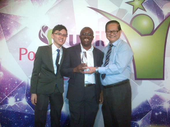 Urah is the Winner of Unity Popular Choice Award 2013