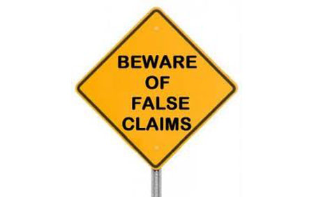 Beware of false product claims